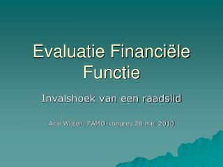 Evaluatie Financiële Functie