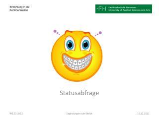 Statusabfrage