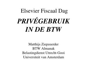 Elsevier Fiscaal Dag