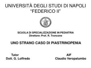 UNIVERSIT� DEGLI STUDI DI NAPOLI �FEDERICO II�