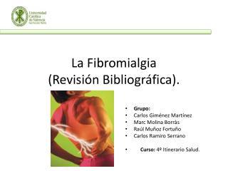 La Fibromialgia (Revisi�n Bibliogr�fica).