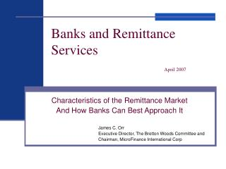 Banks and Remittance