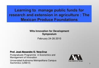 Prof. José A lexandre O. Vera-Cruz