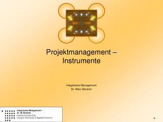 Projektmanagement –  Instrumente