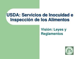 USDA: Servicios de Inocuidad e  Inspección de los Alimentos