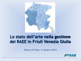 Lo stato dell'arte nella gestione  dei RAEE in Friuli Venezia Giulia