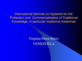 Virginia Pérez Pérez VENEZUELA