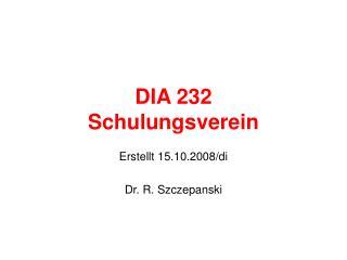 DIA 232 Schulungsverein