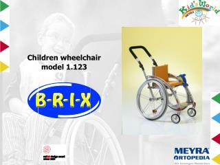 Children wheelchair model 1.123