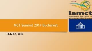 MCT Summit 2014 Bucharest