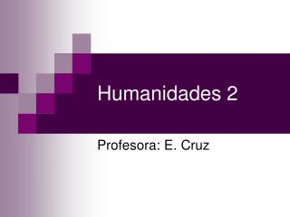 Humanidades 2