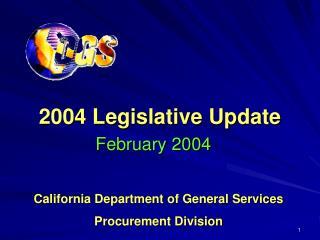 2004 Legislative Update