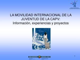 LA MOVILIDAD INTERNACIONAL DE LA JUVENTUD DE LA CAPV: Información, experiencias y proyectos