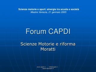 Forum CAPDI