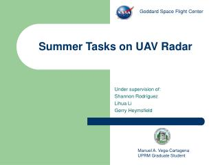 Summer Tasks on UAV Radar