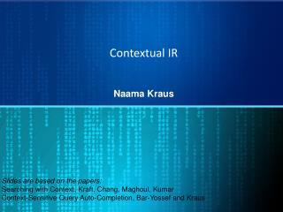 Contextual IR