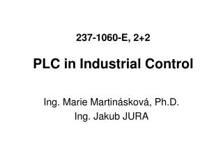 237-1060-E, 22  PLC in Industrial Control