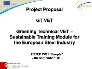 "ESTEP WG5 ""People"" 24th September 2010"