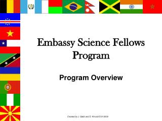 Embassy Science Fellows Program  Program Overview