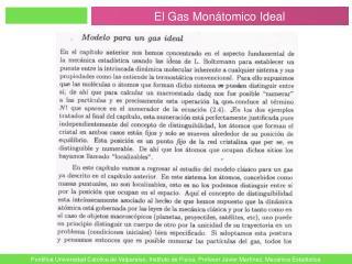 El Gas Monátomico Ideal