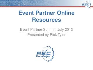 Event Partner Online Resources