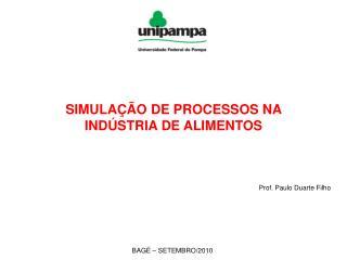 SIMULAÇÃO DE PROCESSOS NA INDÚSTRIA DE ALIMENTOS