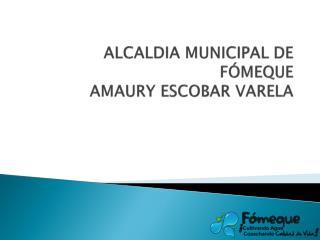 ALCALDIA MUNICIPAL DE FÓMEQUE AMAURY ESCOBAR VARELA