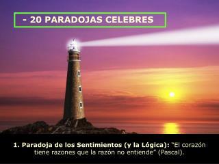 - 20 PARADOJAS CELEBRES