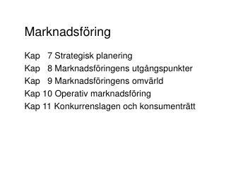 Marknadsf�ring