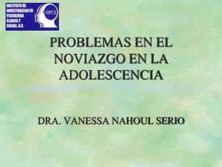 PROBLEMAS EN EL NOVIAZGO EN LA ADOLESCENCIA