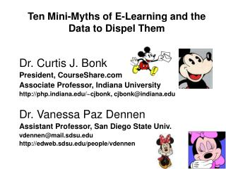 Ten Mini-Myths of E-Learning and the Data to Dispel Them