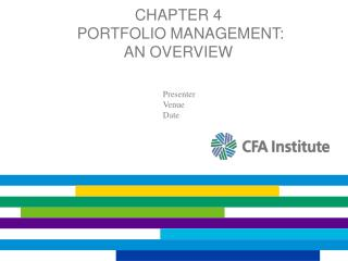 Chapter 4  Portfolio Management:  An Overview