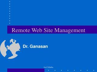 Remote Web Site Management