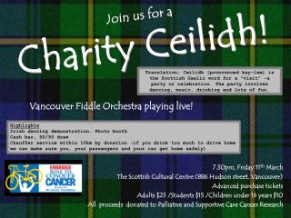 Join us for a  Charity Ceilidh!