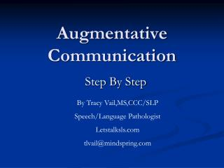 Augmentative Communication