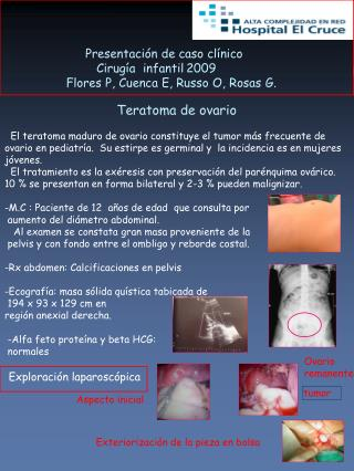 Presentación de caso clínico               Cirugía  infantil2009