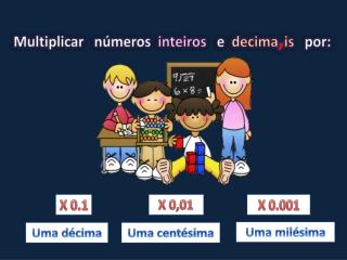 Multiplicar   números   inteiros    e   decima , is    por: