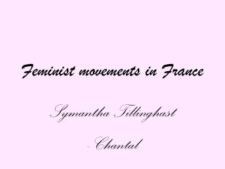 Feminist movements in France