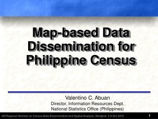 Map-based Data Dissemination f or Philippine Census