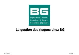 La gestion des risques chez BG