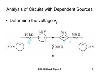 Analysis of Circuits with Dependent Sources