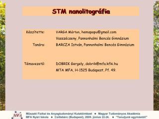 STM nanolitográfia