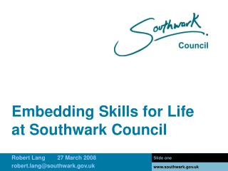 Embedding Skills for Life at Southwark Council