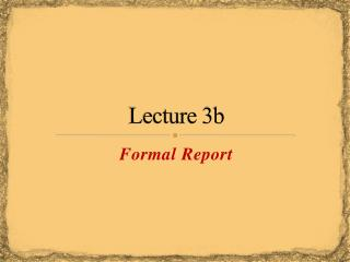 Lecture 3b