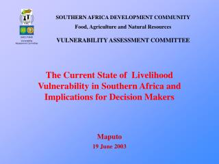 SADC FANR Vulnerability Assessment Committee