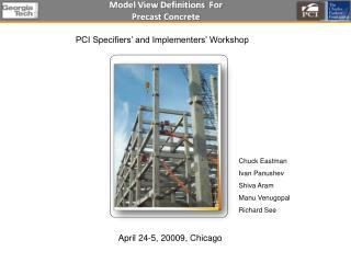 Model View Definitions  For Precast Concrete