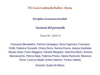 ITC Lucio Lombardo Radice - Roma