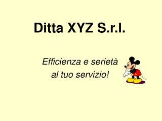 Ditta XYZ S.r.l.