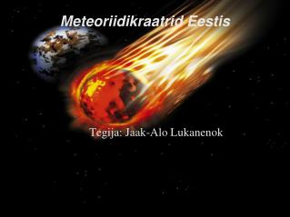 Meteoriidikraatrid Eestis