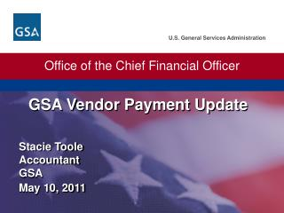 GSA Vendor Payment  Update